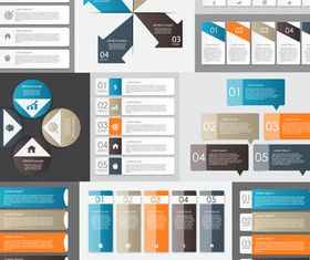 Option Infographics Elements 8 shiny vector