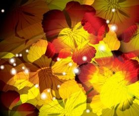 flowers background 3 vectors graphic