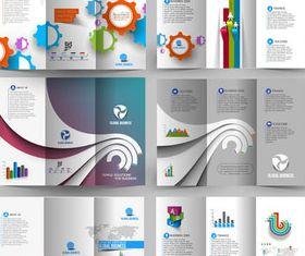 Business Tri-fold Brochures 2 vector