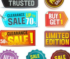 Sale and Discount Elements vector