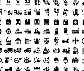 Delivery and Logistics Icons vector graphic