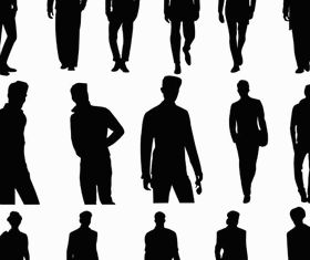 Silhouettes Men Set vector