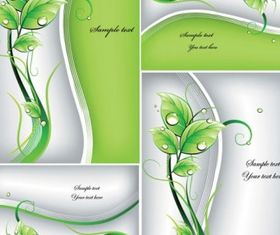 Fresh green background vector graphic