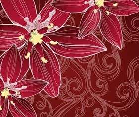 Flower background 01 vectors graphics