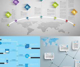 Timeline Infographics 4 vector