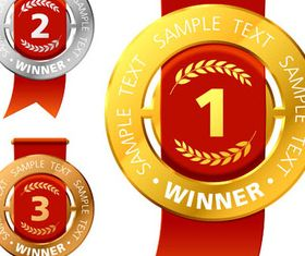 Awards and Medals 3 design vectors