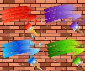 brick wall Free vectors material