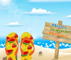 Summer holiday concept Free vector