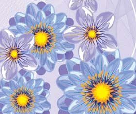 Floral with abstract background vectors graphics