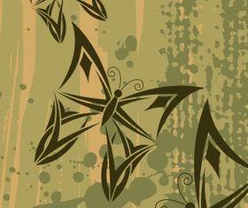 Butterflies background vector graphics