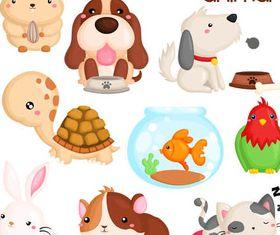 Funny Cartoon Animals 5 vector