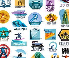 Sport Logotypes Set vector graphics