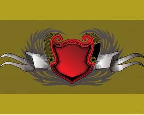 Vintage shield vector
