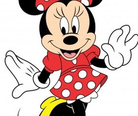 Red minnie mouse Free vector