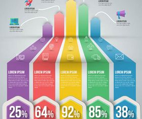 3D Infographics Backgrounds 11 vector