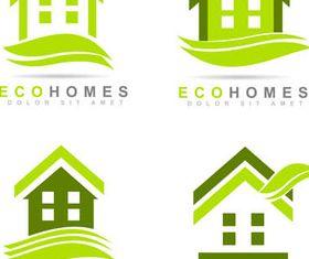 Eco House Logotypes 2 vector