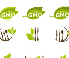 Organic Food Symbols vectors graphic