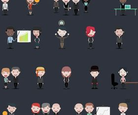 Business Cartoon People Set vectors