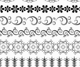 Vintage Floral Borders 8 vector