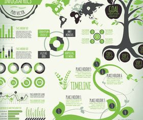 Ecology Infographics Set 4 vector