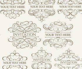 Ornamental Vintage Labels 6 vector set