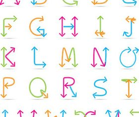 Abstract Alphabets Set 4 vector