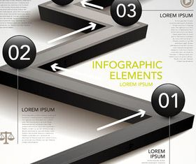 Road Infographic Backgrounds 2 set vector