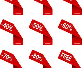 Red Sale Design Elements creative vector