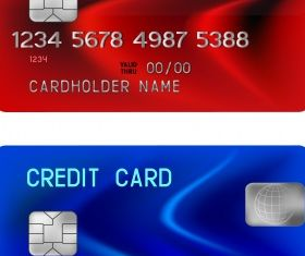 Credit card illustration Free vector