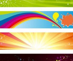 Horizontal Banners Set vector graphics
