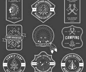 Camp Vintage Labels vector graphics