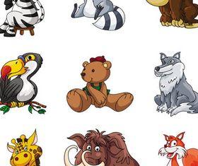 Funny Cartoon Animals 4 vector