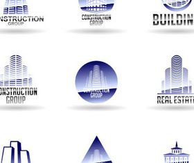 Real Estate Logo Set 10 vector