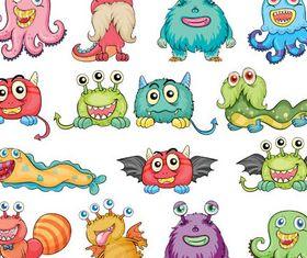 Cartoon Funny Monsters vector