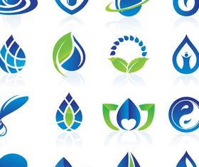 Water Logotypes design vectors