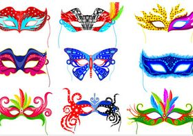 Carnival Masks vector design