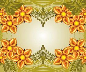 Floral background design vectors