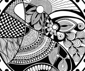black and white Free vector design