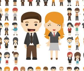 Flat People free vector