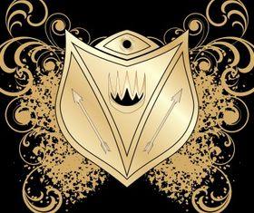 Heraldic blazon set vector