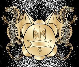 Heraldic blazon 2 vector design