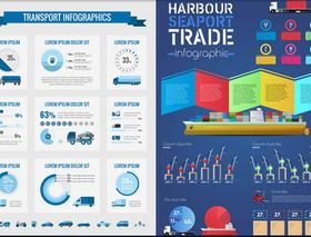 Transport Infographics 4 shiny vector