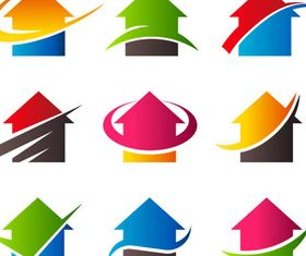 Real Estate Logo Set 9 vector graphics