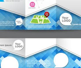 Business Tri-fold Brochures vector graphics
