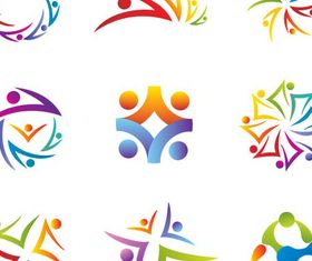 Logo with People vectors