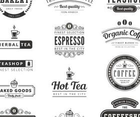Coffee Retro Labels vector