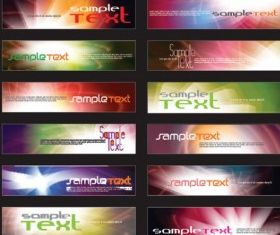 web banner background vector design