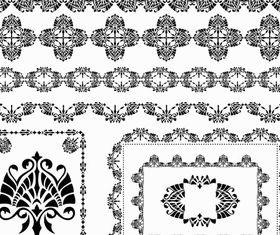 Ornamental Borders Elements Design vector graphic