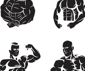Bodybuilders in GYM Illustration vector