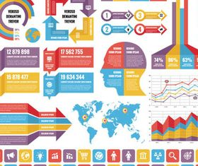 Business Infographics Elements 16 vector graphics